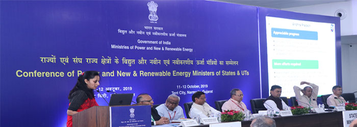 ED (IPDS) presenting the status of IPDS during the Power Ministers Conference at Narmada, Gujarat on 11-Oct-2019