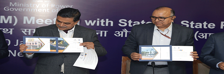 Hon'ble Minister of State for Power unveiled the IPDS calendar 2020 during the RPM meeting on 09-Jan-2020