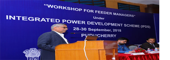 CMD, PFC addressing the Feeder Managers during Feeder Manager Workshop on 29-Sep-2018